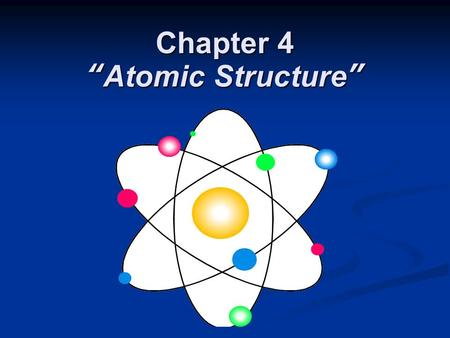 "Chapter 4 ""Atomic Structure"". Section 4.1 Defining the Atom OBJECTIVES: OBJECTIVES: Describe Democritus's ideas about atoms. Describe Democritus's ideas."