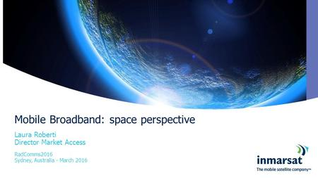 Mobile Broadband: space perspective