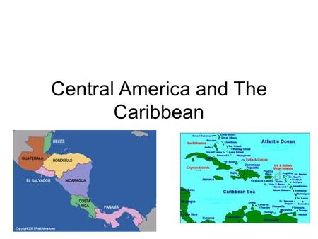 Central America and The Caribbean. Terms Isthmus- a narrow strip of land connecting two larger land areas Eco-tourism – the practice of using an area's.