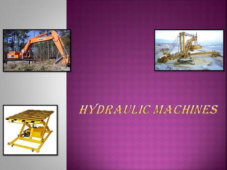 Hydraulics is a topic in applied science and engineering dealing with the mechanical properties of fluids. On a very basic level Hydraulics is used for.