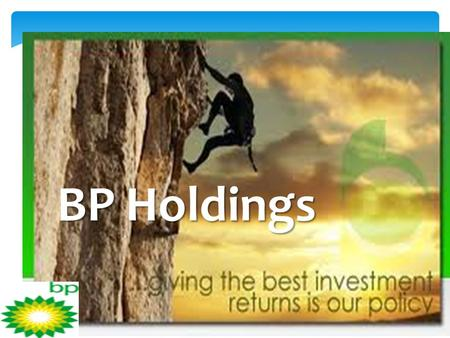 BP Holdings. BP Second Quarter 2012 Results BP today reported its quarterly results for the second quarter of 2012. Underlying replacement cost profit.