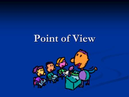Point of View. Using Language to Persuade Being able to present a sustained and reasoned point of view on an issue is an important life- skill as it develops.