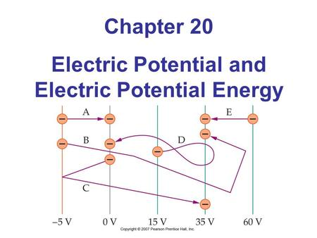 Chapter 20 Electric Potential and Electric Potential Energy.
