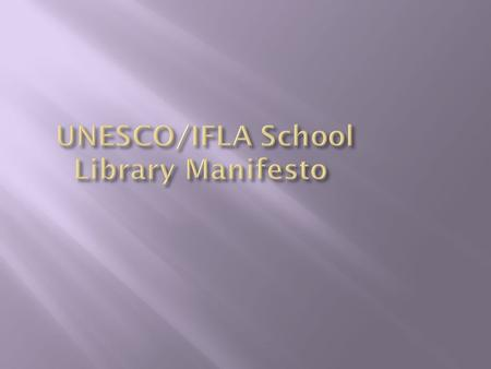 The school library provides information and ideas that are fundamental to functioning successfully in today's information and knowledge-based society.