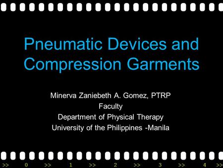 Pneumatic Devices and Compression Garments