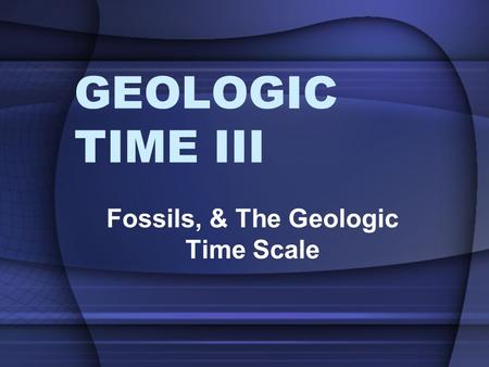 GEOLOGIC TIME III Fossils, & The Geologic Time Scale.