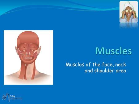 Muscles of the face, neck and shoulder area Unlike other muscles in the body, facial muscles are attached to the skin of the face. This is why we get.