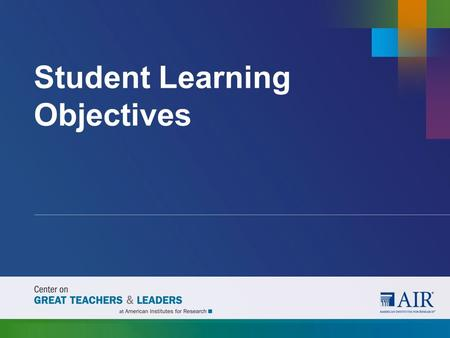 Student Learning Objectives. An SLO is a measurable, long-term, academic goal informed by available data that a teacher or teacher team sets at the beginning.