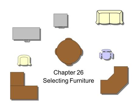 Chapter 26 Selecting Furniture. Objectives 1. Describe the characteristics of different materials used to make furniture. 2. Evaluate furniture by comparing.