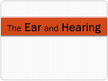 The Ear and Hearing The Ear How the Ear Works - videos.