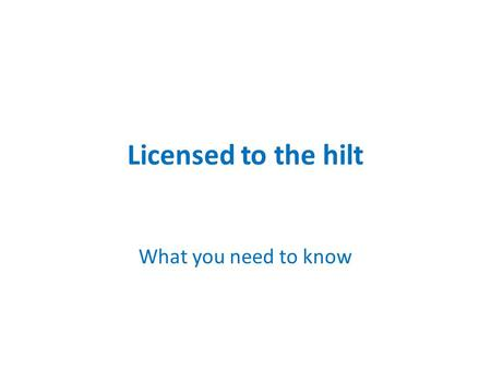 Licensed to the hilt What you need to know. Copyright Licensing Agency Fair dealing: UK Copyright ServiceUK Copyright Service covers printed books,