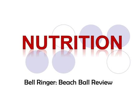 "Bell Ringer: Beach Ball Review. What does ""You are what you eat!"" mean?"