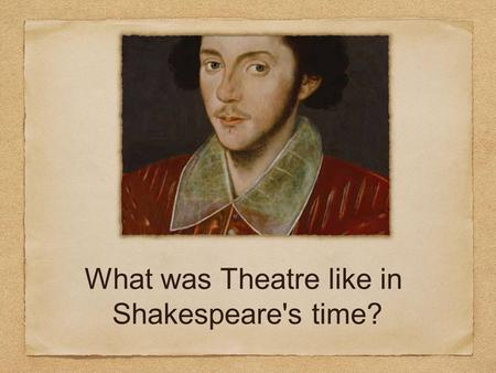 What was Theatre like in Shakespeare's time?. The Theatre The Theatre was an Elizabethan playhouse located in Shoreditch just outside the City of London.