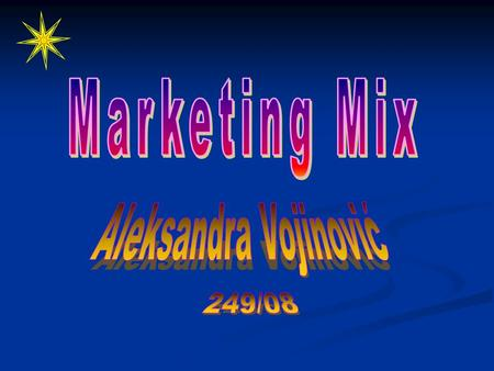 The term 'marketing mix' was first used in 1953 when Neil Borden, in his American Marketing Association presidential address, took the recipe idea one.