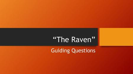 the raven essay prompts The raven research papers discuss edgar allen poe's use of suspense in his   research papers are custom written on many literature research paper topics   writing process by considering the effect that he wants to achieve with his writing.