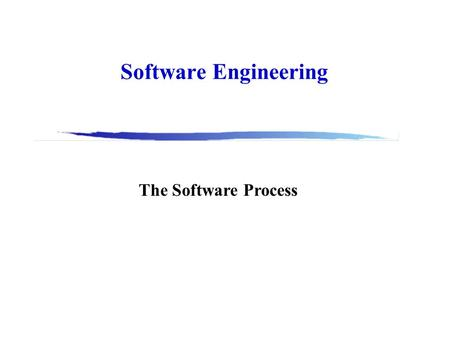 Software Engineering The Software Process. 2 Why Software Engineering?  Can you approach building software as building a bridge? Why? Why not?  How.