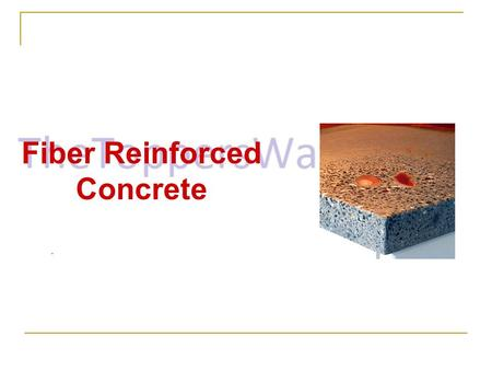 Fiber Reinforced Concrete. Content Introduction What is fiber reinforced concrete? Application History of Reinforced Concrete Application of FRC Fiber.
