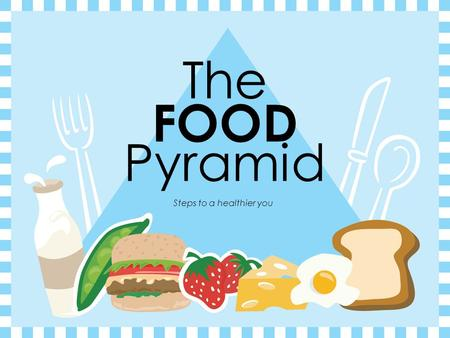 The FOOD Pyramid Steps to a healthier you Eating Right Every Day  Good nutrition and health.