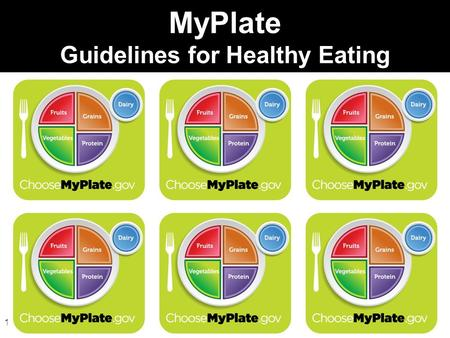 1 MyPlate Guidelines for Healthy Eating. 2 The Old MyPyramid is now …