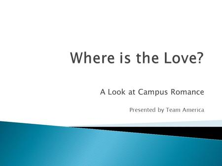 A Look at Campus Romance Presented by Team America.