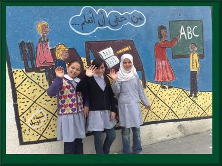 "Hello every body !!! We are students at Gaza Prep ""A"" Girls school and we are going to tell you about a Palestinian traditional game. We call this game."
