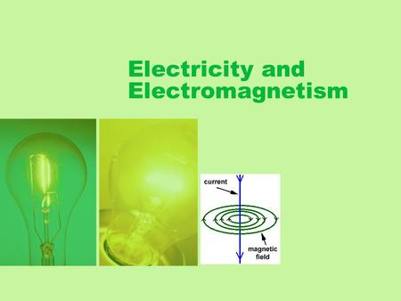 Electricity and Electromagnetism. What is Electricity? Electricity is a form of energy resulting from charged particles.