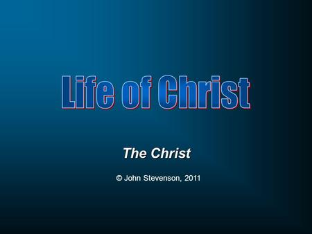 The Christ © John Stevenson, 2011.