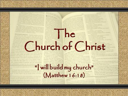 "The Church of Christ Comunicación y Gerencia ""I will build my church"" (Matthew 16:18)"