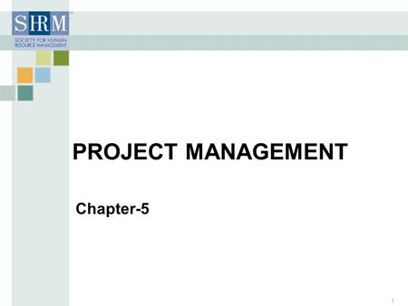 Chapter-5 PROJECT MANAGEMENT 1. Project Management Project Management – > a carefully planned and organized effort to accomplish a specific (and usually)