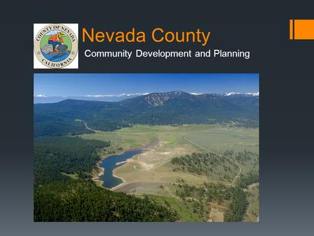 Nevada County Community Development and Planning.