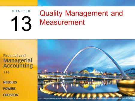 Quality Management and Measurement 13. The Role of Management Information Systems in Quality Management OBJECTIVE 1: Describe a management information.