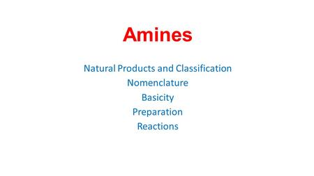 Natural Products and Classification