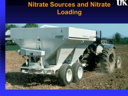 Nitrate Sources and Nitrate Loading. Historical Yield of Burley Tobacco in Kentucky.