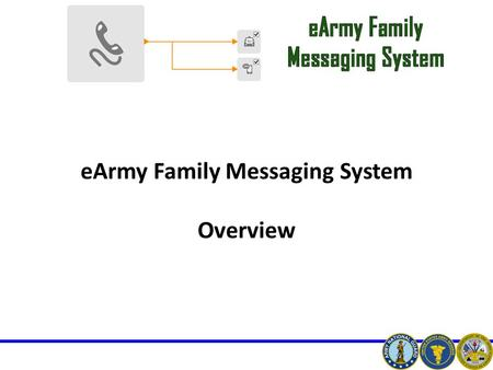 EArmy Family Messaging System Overview. eArmy Overview Broadcast thousands of messages per minute through the following: Landline, Cell phone, E-mail,