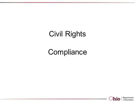 Civil Rights Compliance Civil Rights Requirements for CACFP The following is a list of Federal regulations protecting Civil Rights that all CACFP Sponsors.