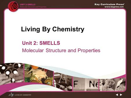 Living By Chemistry Unit 2: SMELLS Molecular Structure and Properties.