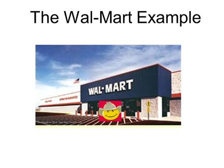 The Wal-Mart Example. The Wal-Mart Textile and Apparel Supply Chain Little-to-No SCM of Dependent Demand. Wal-Mart {}