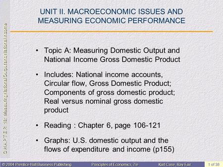 C H A P T E R 18: Measuring National Output and National Income © 2004 Prentice Hall Business PublishingPrinciples of Economics, 7/eKarl Case, Ray Fair.