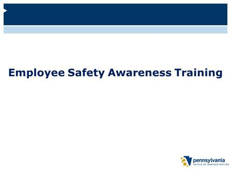 Employee Safety Awareness Training. Welcome and Objectives Welcome to this web-based training about workplace safety. This course will:  Provide information.