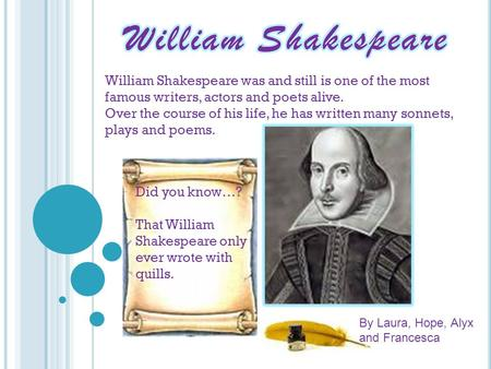 What is William Shakespeare's most famous play?