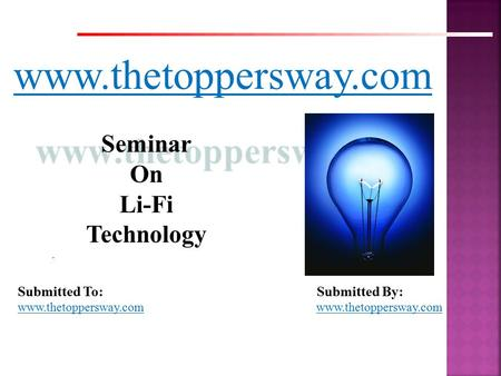 Seminar On Li-Fi Technology