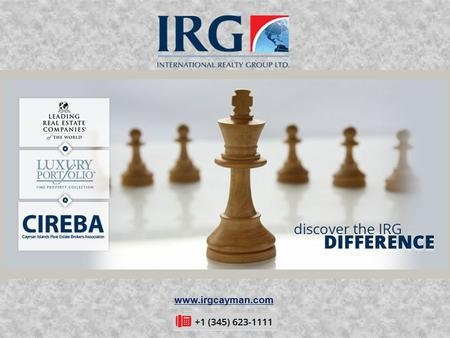 Www.irgcayman.com. Welcome To International Realty Group (IRG) Ltd About Us: IRG (International Realty Group Ltd.) is the Cayman Island's leading integrated.