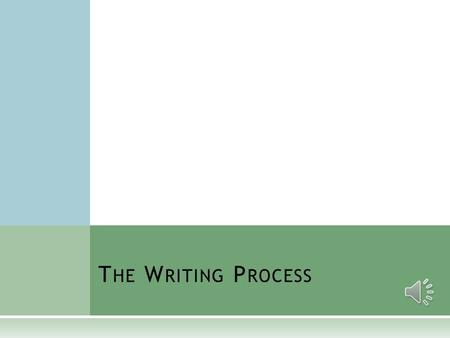 T HE W RITING P ROCESS F IVE S TEPS OF T HE W RITING P ROCESS  Prewriting, Inventing, and Planning  Writing and Drafting  Revising  Editing and Proofreading.