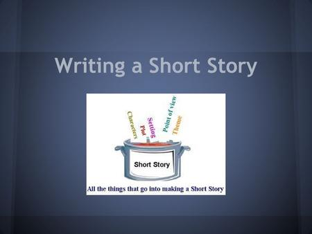 Writing a Short Story. Main Elements of a Short Story Setting Characters Theme Plot Point of View.