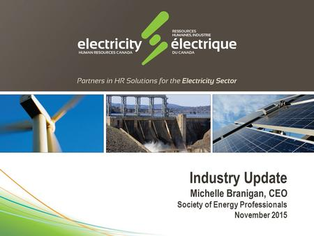 Industry Update Michelle Branigan, CEO Society of Energy Professionals November 2015.