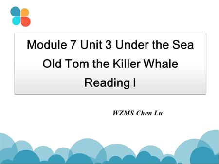 Module 7 Unit 3 Under the Sea Old Tom the Killer Whale Reading I WZMS Chen Lu.