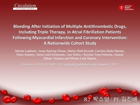 Bleeding After Initiation of Multiple Antithrombotic Drugs, Including Triple Therapy, in Atrial Fibrillation Patients Following Myocardial Infarction and.