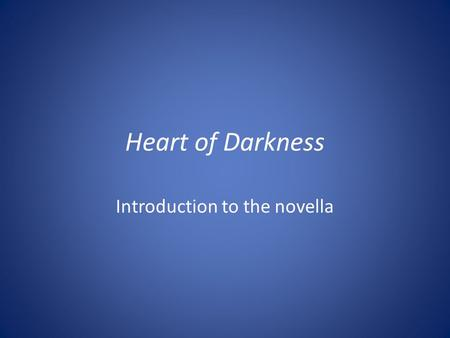 an analysis of the congo in the novel heart of darkness by joseph conrad Who have not read joseph conrad's heart of darkness however, while the  words them- selves may be  novel, an elevated analysis of the sum of these  great parts, and the  main narrator, captain of steamer up the congo river  director of.