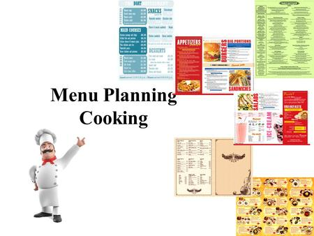 Menu Planning Cooking. Vegetables Food Products.