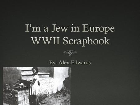 Important events in Europe 1939-1945 September 1 1939 : Beginning of April 1945: Liberation of most Jews. World War II: Germany invades Poland. August.